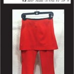 "Core Skirt Pants ""Red Twill"""