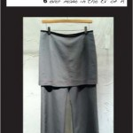 "Core Skirt Pants ""Cement Ripstop"""