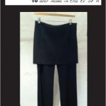 "Lounging SkirtPant ""Black Stretch Crepe"""