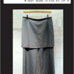 "Lounging SkirtPant ""Cement Ripstop"""