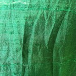 close up of evergreen silk