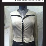 Hook Front Cardy (sand)