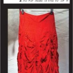Midi Parachute Skirt (blood)