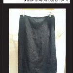"""Garden"" Skirt Pants (black linen)"