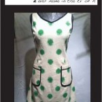 Hepburn Dress (green dot)