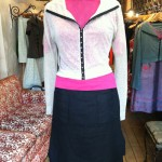 Skirt Shorts paired with the Boating T and Hook Front Cardy