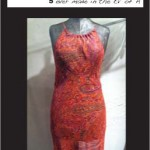 Sleep Away Halter Dress (red paisley)