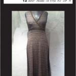 Surpliced Dress (with brown trim)