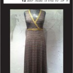 Surpliced Dress (with yellow printed trim)