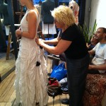 Sara's fitting with Jill at the boutique!